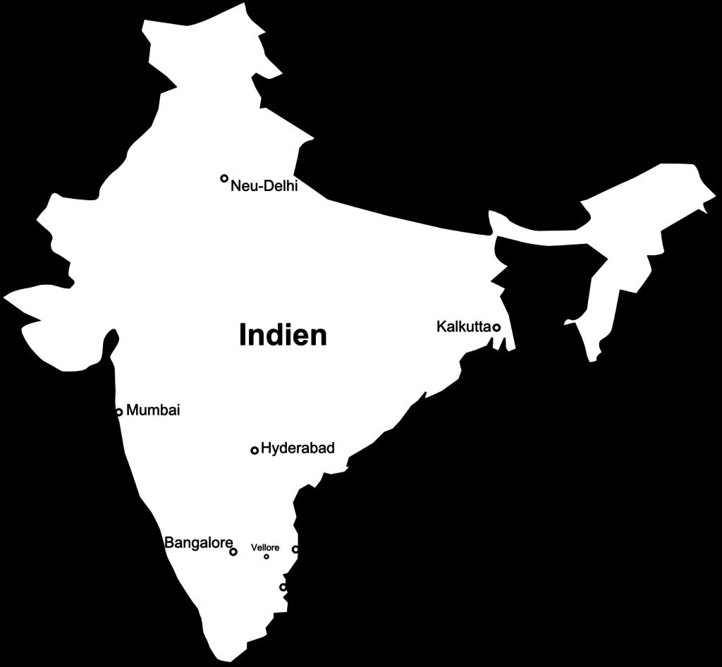 Pondicherry liegt südlich von Chennai.