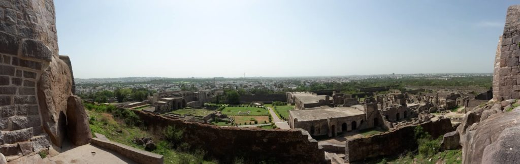 Das Golkonda Fort in Hyderabad als Panoramabild