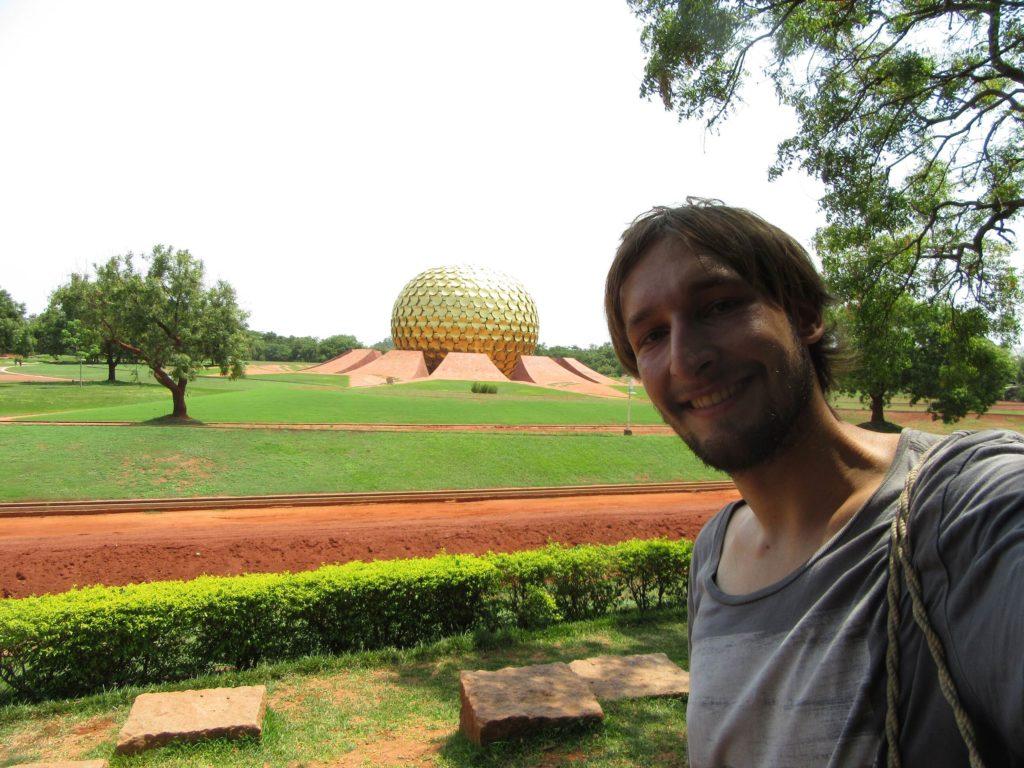 Auroville Selfie Matrimandir